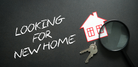 Looking for a new home. Real estate concept  Stock Photo