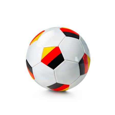 Soccer ball with german flag isolated on a white background
