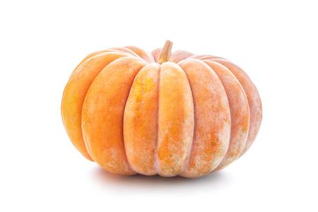Nutmeg pumpkin isolated on white background Stock Photo