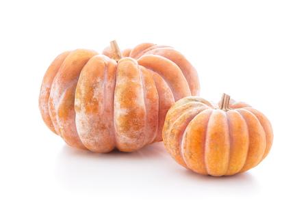 Group of nutmeg pumpkins isolated on white background