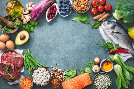 Alimentation diététique équilibrée