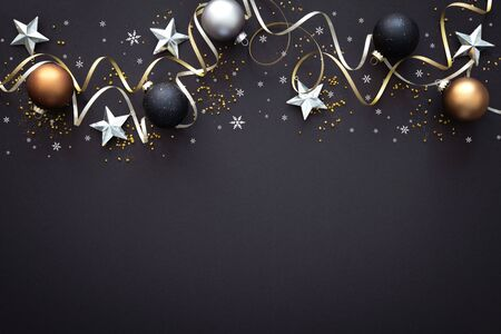 Christmas  decoration on dark