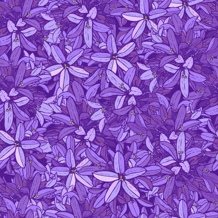 Violet flower pattern and purple floral