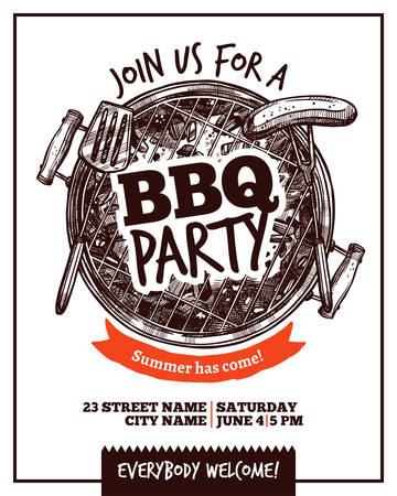 Bbq Barbecue Party Poster