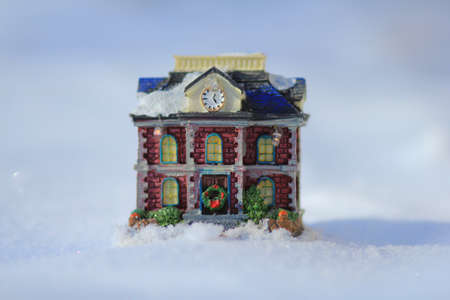 Cristmas home in snow photo