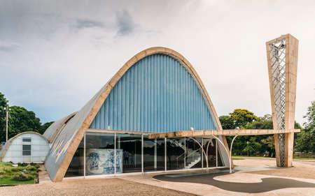 Modernistische kerk van Sao Francisco de Assis in Belo Horizonte, Brazilië