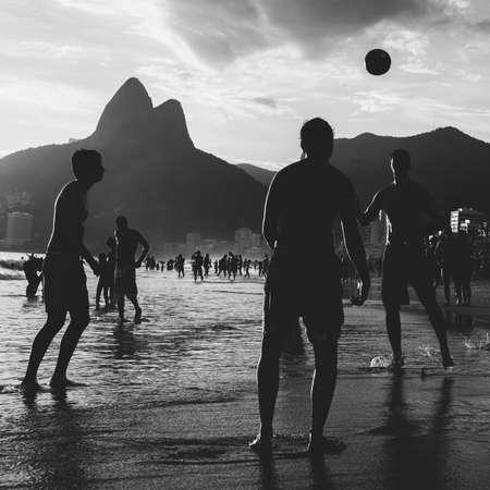 Keepy Uppy on Ipanema Beach, Rio de Janeiro, Brazil