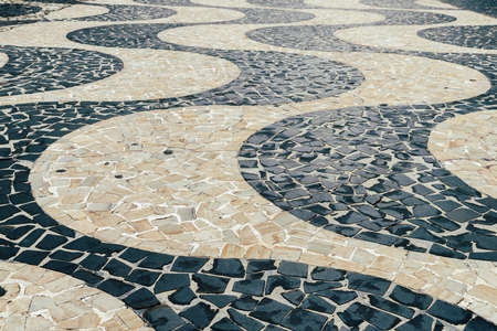 Hyponotic winding design of Pedras Portuguesas , popular in ex-Portuguese colony countries and in Portugal Imagens