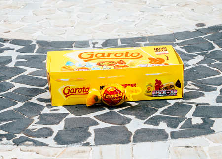 Illustrative editorial of a popular Brazilian chocolate called Garoto which means boy