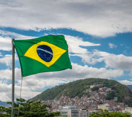 Brazil is one of the most unequal countries when it comes to the gap between poor and rich. In Rio de Janeiro, many poor residents live in favelas close to more wealthy residents Stock Photo