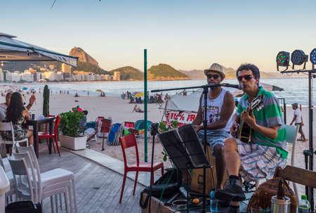 Bossa Nova and Samba in Copacabana Beach Editorial