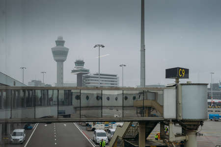 Amsterdams Schiphol Airport in the Netherlands Редакционное