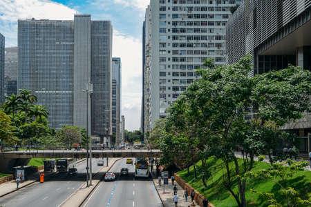 Avenida Republica do Chile in Downtown Rio de Janeiro Editorial