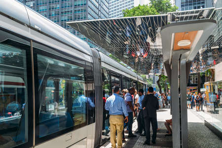 Municipality of Rio de Janeiro introduced VLTs vehicle light rail in 2016, which runs in the downtown district Sajtókép