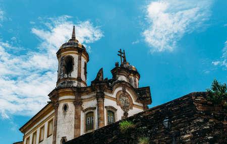 Kerk in Ouro Preto, Minas Gerais, Brazilië Stockfoto - 94980023
