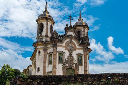 Kerk in Ouro Preto, Minas Gerais, Brazilië Stockfoto - 97038842