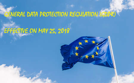 European Union General Data Protection Regulation,GDPR, coming into effect on May 25, 2018, was designed to strengthen and unify data protection for all individuals within the European Union Stock Photo