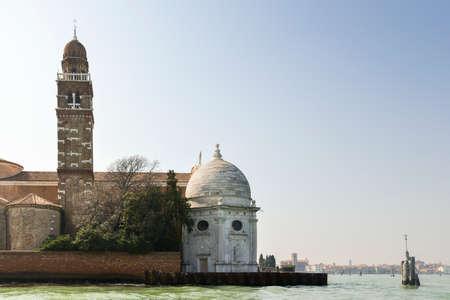 San Michele church in a venetian island Banco de Imagens