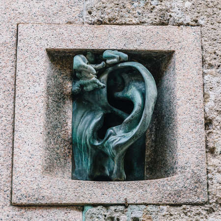 Ca dellOrregia meaning Ear House is a reference to a bronze ear-shaped intercom created by Aolf Wildt placed next to the front door of Casa Sola-Busca Editorial