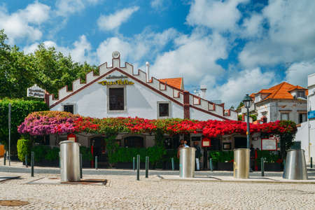 Casa velha restaurant covered in ornamental Bougainvillea plants Editorial