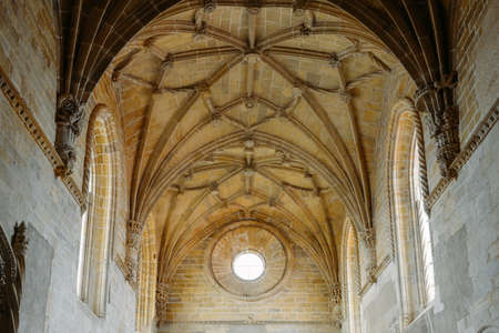 Manueline nave inside the 12th-century Convent of Christ - Tomar, Portugal. UNESCO World Heritage Site Ref: 265 Éditoriale