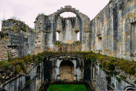 Ruins of 12th-century Convent of Tomar constructed by the Knights Templar Tomar, Portugal - UNESCO World Heritage Ref: 265 Editorial