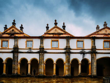 Claustro de D. Joao III, courtyard at 12th-century Convent of Christ in Tomar, Portugal UNESCO World Heritage Site Ref: 264 Editorial