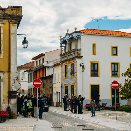 Jewish tourists in Belmonte, Portugal. The city has a strong Jewish legacy since medieval times Editorial