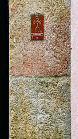 16th-century wall markings at Guardas Jewish district depicting Jewish households that were forcibly converted to Christianity