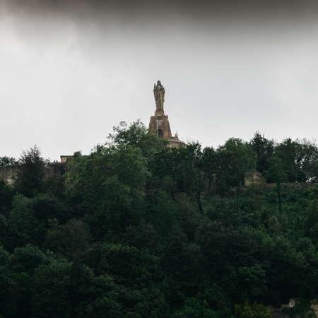 San Sebastian, Donostia, Basque Country, Spain. Monument of Christ. Imagens