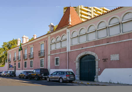 Outside facade of the Brazilian embassy in Lisbon, Portugal