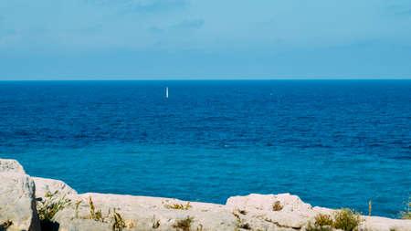Turquoise water at Mediterranean Costa Dorada, Spain.