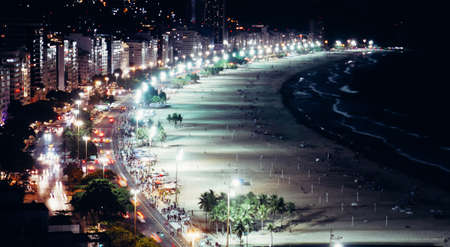 Iconic Copacabana beach, viewed from above, Rio de Janeiro, Brazil