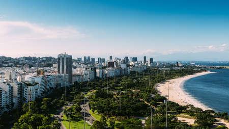 High perspective of Aterro do Flamengo, in Rio de Janeiro, Brazil