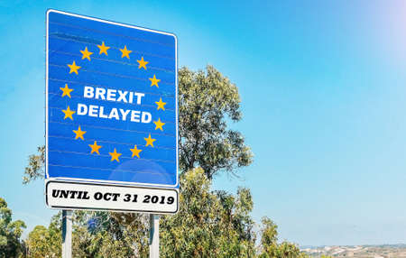 UK is set to extend leaving the EU via Article 50 until October 31st, 2019 - BREXIT Stock Photo