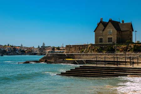 Oceanic Pool Alberto Romano in Cascais, Lisbon, Portugal on a sunny day