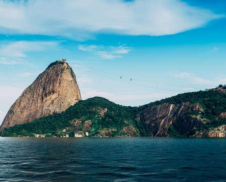 Digital composite of flooded SugarLoaf Mountain in Rio de Janeiro, Brazil Stock Photo