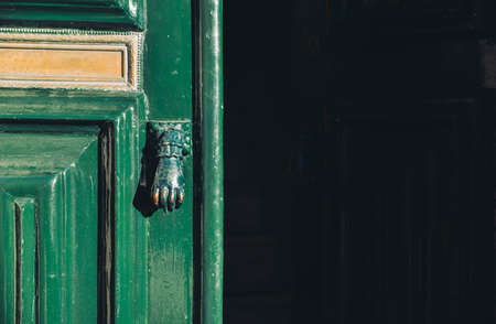 Moorish style door handles captured in Cascais, Portugal Banco de Imagens