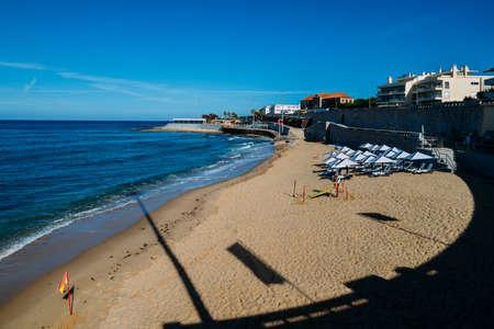 Empty Sao Joao do Estoril beach, 25km west of Lisbon, Portugal