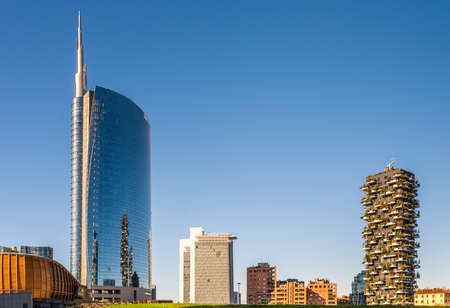General view of buildings at Isola district in Milan, Lombardy, Italy