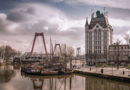 View of Oudehaven Harbor, Rotterdam, The Netherlands