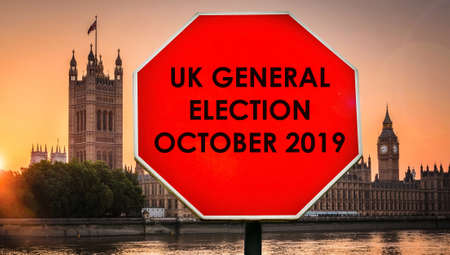Speculation of snap UK General Election in Oct 2019 concept