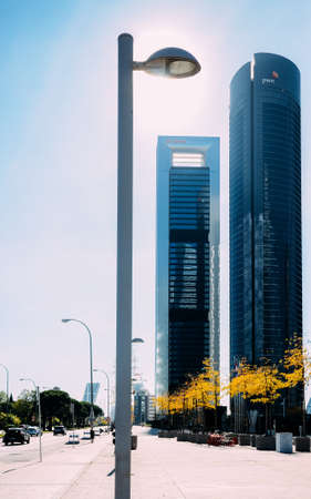 Four Towers or Cuatro Torres financial district in Madrid, Spain Editöryel