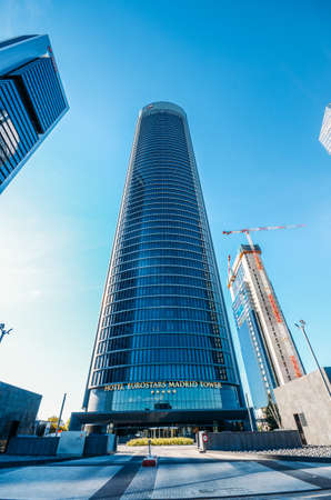 Eurostars Madrid Tower Hotel in the Cuatro Torres Four Towers district of Madrid, Spain Editöryel