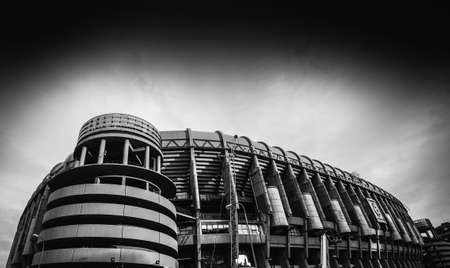 Santiago Bernabeu Stadium of Real Madrid in Madrid, Spain