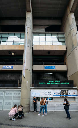 The Main Ticket Office of the Santiago Bernabeu stadium