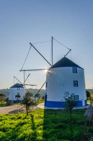 A typical Portuguese windmill in Sintra, Portugal Фото со стока