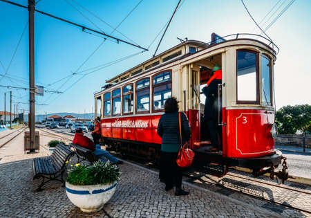 Sintra tramway is a narrow gauge tourist tram line that runs from Sintra to Praia das Macas on the coast, Portugal Editöryel