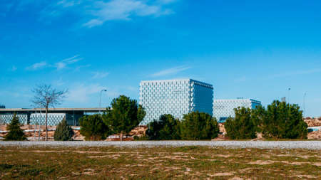 View of Telefonica main telecommunications HQ in Las Tablas, Madrid, Spain