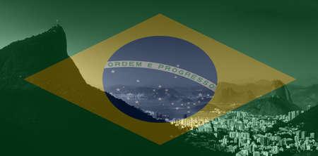 Rio de Janeiro view from Vista Chinesa, Floresta da Tijuca, Brazil 스톡 콘텐츠